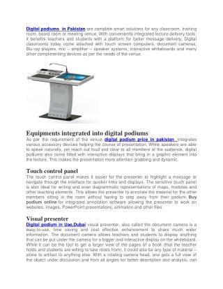 Best Digital Podium in PAkistan,Uae,Dubai,Saudi Arabia