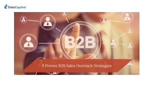 5 PROVEN B2B SALES OUTREACH STRATEGIES