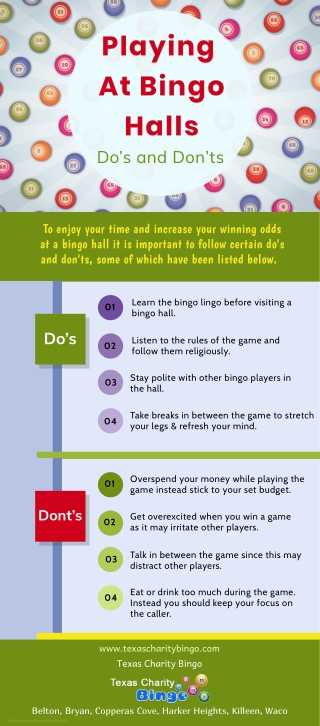 Playing At Bingo Halls Do's and Don'ts