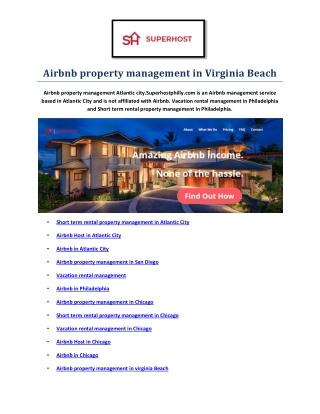 Vacation rental management in virginia Beach