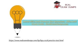 Download HP HP5-C07D Practice Test Dumps - HP5-C07D Practice Test Questions - RealExamDumps.com