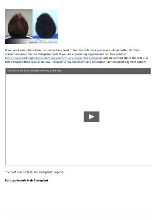 Price Of Hair Transplant