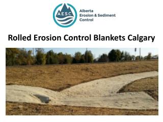 Rolled Erosion Control Blankets Calgary