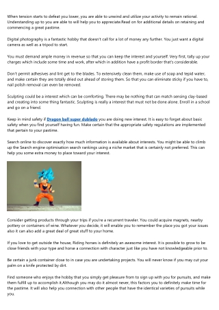 Thinking Of Starting up A Hobby? Please Read On!