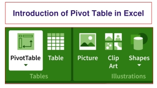 Introduction of Pivot Table in Excel