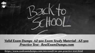 Download AZ-500 Practice Question Answers - Valid AZ-500 Dumps PDF - RealExamDumps.com