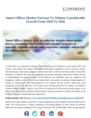 Smart Offices Market Is Thriving Worldwide