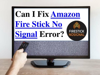 Can I Fix Amazon Fire Stick No Signal Error?