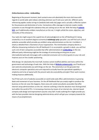 Online Business online - Linkbuilding