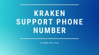 Kraken Support 1【(856) 295-1212】Phone Number