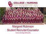 Margaret Robinson Student Recruiter