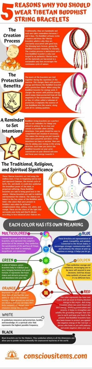 5 Reasons Why You Should Wear Tibetan Buddhist String Bracelets