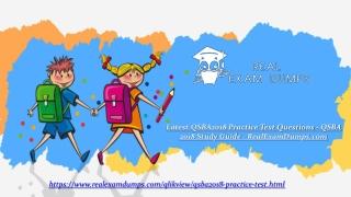 QSBA2018 Questions Answers - QSBA2018 Dumps PDF | Realexamdumps.com