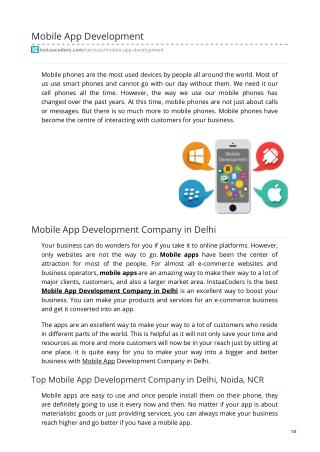 Mobile Application Development Company in Delhi, Noida