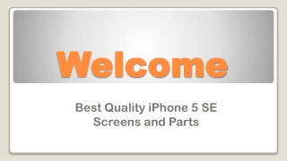 Best Quality iPhone 5 SE Screens and Parts