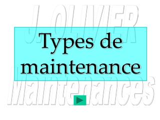 Types de maintenance