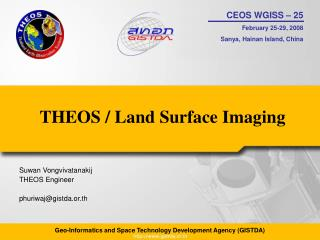 THEOS / Land Surface Imaging