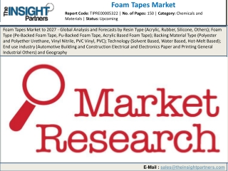 Foam Tapes Market Business Growth Statistics and Key Players Insights 2027