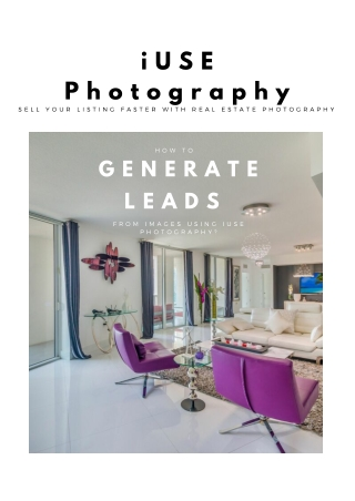 How To Generate Leads From Images Using iUSE Photography?