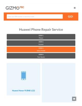 Huawei Phone Screen Repair Service Online | Gizmotec