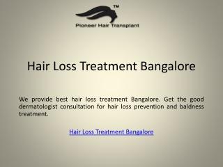 Hair Loss Treatment Bangalore