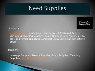 Massage Supplies, Beauty Supplies, Salon Supplies, Cleaning Supplies, Best Massage Supplies
