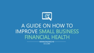 A Guide on How to Improve Your Small Business Financial Health