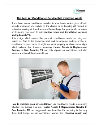 The best Air Conditioner Service that everyone wants