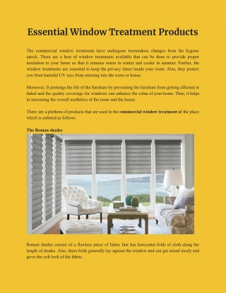 Commercial Window Treatments | The Best Shades