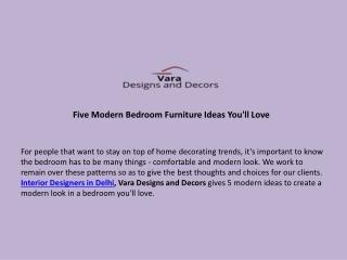 Five Modern Bedroom Furniture Ideas You'll Love