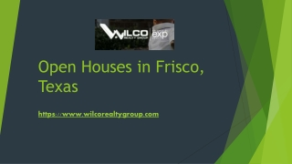 View Exclusive Open Houses in Frisco TX