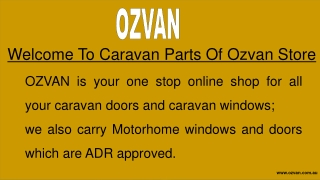 Affordable Price Best Caravan Parts & Accessories