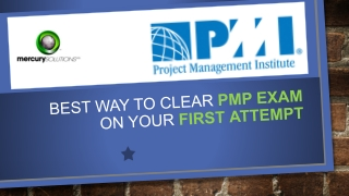 How to clear PMP Certification exam in first Attempt