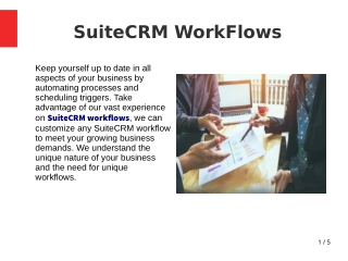 SuiteCRM Workflows | Outright Store