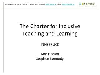 The Charter for Inclusive Teaching and Learning