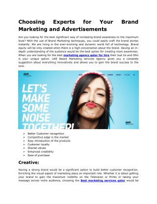 Hire Marketing Services in Qatar