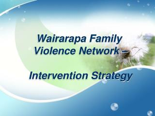 Wairarapa Family  Violence Network – Intervention Strategy