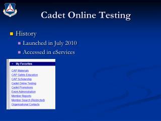 Cadet Online Testing