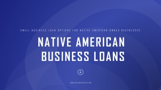 Small business loan options for native american owned businesses