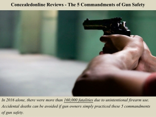 Concealedonline Reviews - The 5 Commandments of Gun Safety