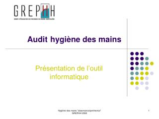 Audit hygi ne des mains