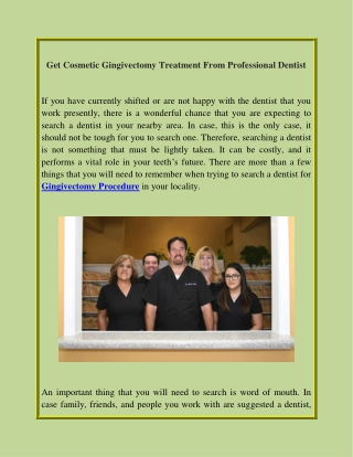 Get Cosmetic Gingivectomy Treatment From Professional Dentist