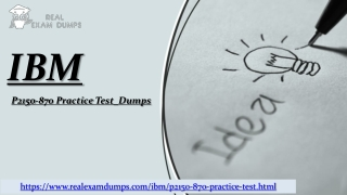 IBM P2150-870 Free Sample Questions available at Realexamdumps.com