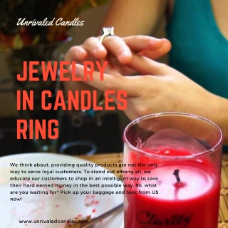 Jewelry in Candles Ring | Candles with Jewelry Hidden Inside