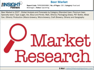 Beer Market Business Opportunities, Trends and Growth 2019 to 2027