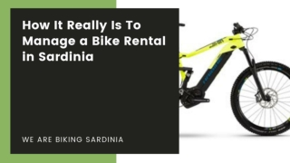 How It Really Is To Manage a Bike Rental in Sardinia