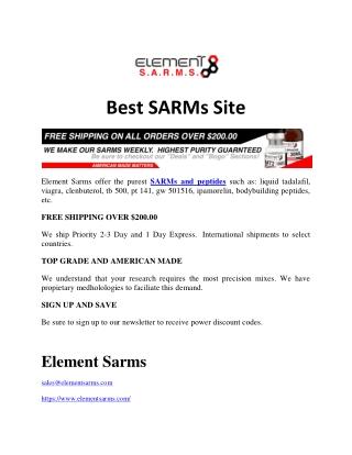 Best Sarms Site