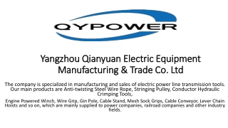 Stringing Pulley Manufacturer in China