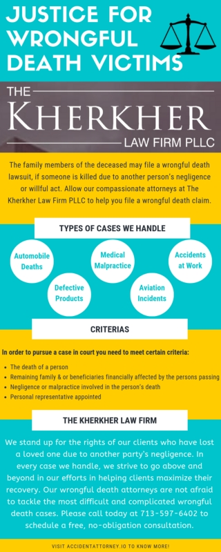 Wrongful Death Attorney in Texas - The Kherkher Law Firm