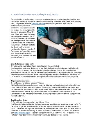 https://www.fortune.nl/  Leestips voor een beginnende Barista